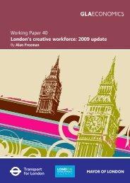 Working Paper 40 London's creative workforce: 2009 update