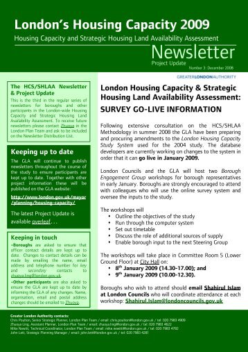 Newsletter 3 (December 2008) PDF - london.gov.uk - Greater ...