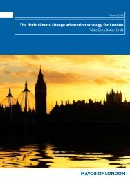 The draft climate change adaptation strategy for London