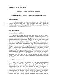 legislative council brief unsolicited electronic messages bill