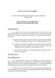 LEGISLATIVE COUNCIL BRIEF Alice Ho Miu Ling Nethersole ...