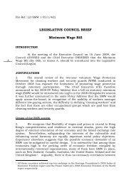 LEGISLATIVE COUNCIL BRIEF Minimum Wage Bill