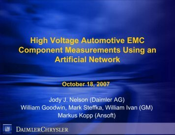 High Voltage Automotive EMC Component Measurements Using and