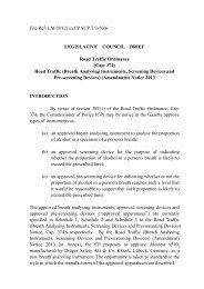 Legislative Council Brief