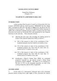 LEGISLATIVE COUNCIL BRIEF Stamp Duty Ordinance (Chapter ...