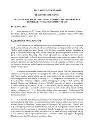 legislative council brief securities ordinance securities (dealers ...