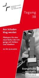 Tagung 38 - Evangelische Akademie im Rheinland