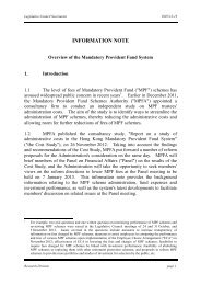 Overview of the Mandatory Provident Fund System