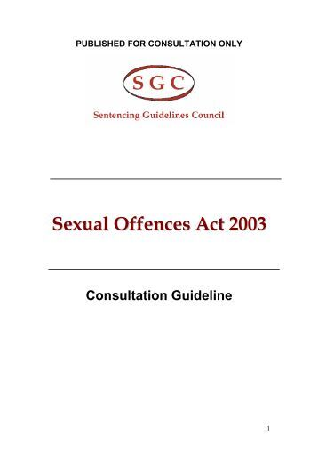 The Sexual Offences Act 2003