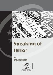 Speaking of terror - Council of Europe