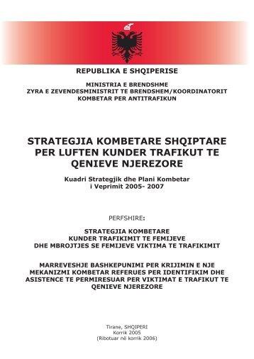 strategjia kombetare shqiptare per luften kunder ... - Legislationline