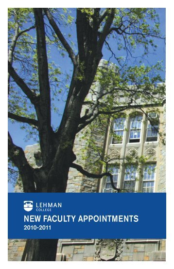 NEW FACULTY APPOINTMENTS - Lehman College - CUNY