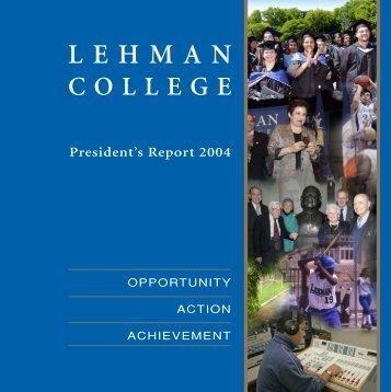 President's Report 2004 (PDF) - Lehman College - CUNY