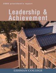 President's Report 2005 (PDF) - Lehman College - CUNY