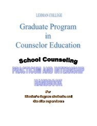 Counselor Education/School Counseling Practicum and Internship ...
