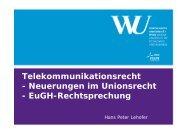 Folien (pdf) - Rechtsfragen der elektronischen Kommunikationsnetze