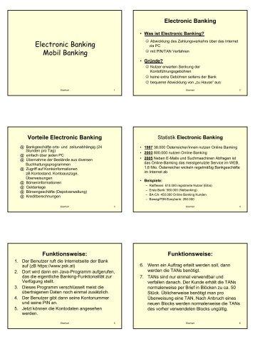 Electronic Banking Mobil Banking - Lehrer