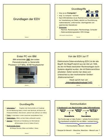 Grundlagen der EDV - Lehrer