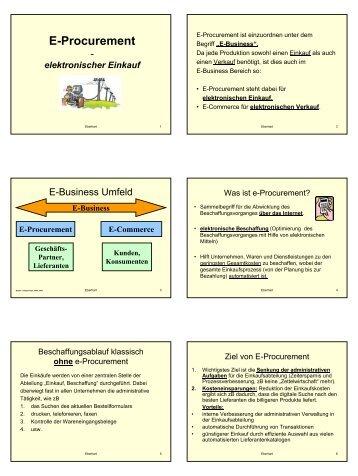 E-Procurement - Lehrer