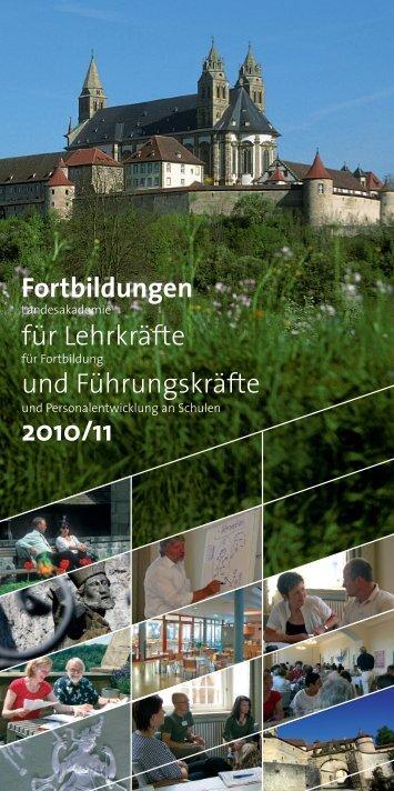 Fortbildungen für Lehrkräfte und Führungskräfte 2010/2011