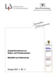 Merkblatt zum Datenschutz - Lehrerfortbildungsserver Baden ...