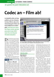Codec an ?Film ab! - schule.at