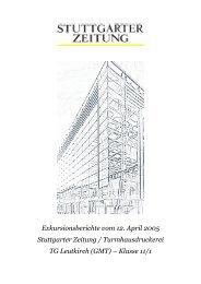 Exkursionsberichte vom 12. April 2005 Stuttgarter Zeitung ...