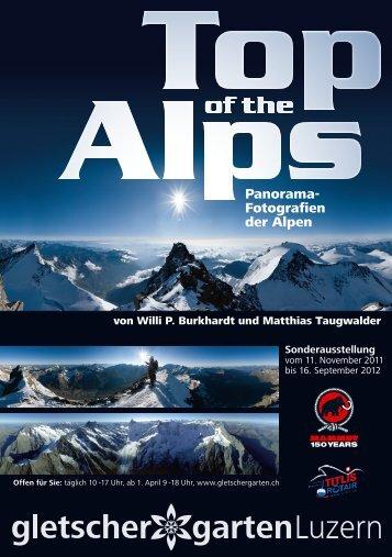 Flyer A5 Top of the Alps Vorderseite GGL - Gletschergarten Luzern