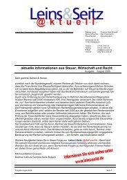 LS aktuell 2009-08 - Leins & Seitz