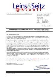 LS aktuell 2011-09 - Leins & Seitz
