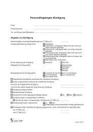 Personalfragebogen Kündigung - Leins & Seitz
