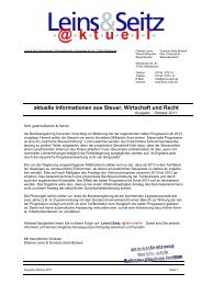LS aktuell 2011-10 - Leins & Seitz