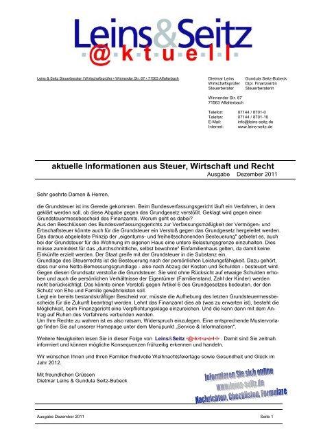 LS aktuell 2011-12 - Leins & Seitz