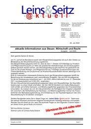 LS aktuell 2009-07 - Leins & Seitz
