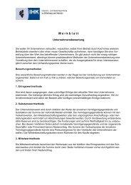 Unternehmensbewertung - IHK Lahn-Dill