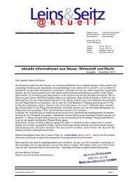 LS aktuell 2011-11 - Leins & Seitz