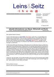LS thema WachstumsbeschleunigungsG2010 - Leins & Seitz