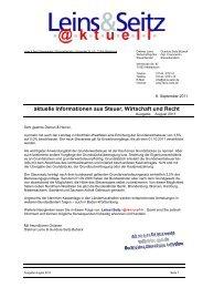 LS aktuell 2011-08 - Leins & Seitz