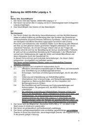 Satzung zum Download - Aids Hilfe Leipzig eV