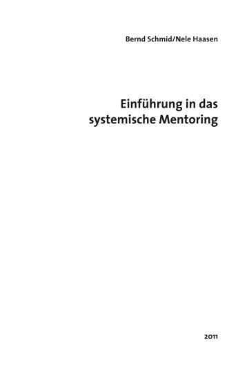 Einführung in das systemische Mentoring