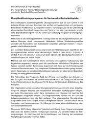 Rumpfkrafttrainingsprogramm für Nachwuchs ... - Leistungssport
