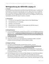 Beitragsordung zum Download - Aids Hilfe Leipzig eV