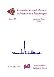 10 - Leonardo Electronic Journal of Practices and Technologies