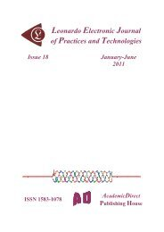 18 - Leonardo Electronic Journal of Practices and Technologies