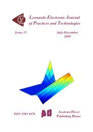 15 - Leonardo Electronic Journal of Practices and Technologies