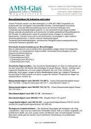 AMSI Glas AG, Glasapparate, Labor