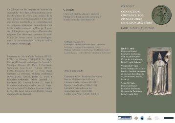2 juin 2012 - Laboratoire d'Etudes sur les Monothéismes - CNRS