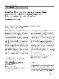 Urban heat islands and landscape heterogeneity - Arizona State ...