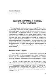 Aspecto, referência nominal e papéis temáticos / Fátima Oliveira ...