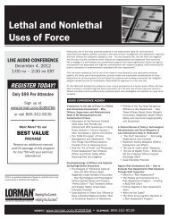 Lethal and Nonlethal Uses of Force - Amazon Web Services